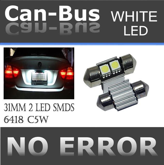 canbus doom 31 mm 2 LED WHITE COLOR  License Plate or Interior Doom Light