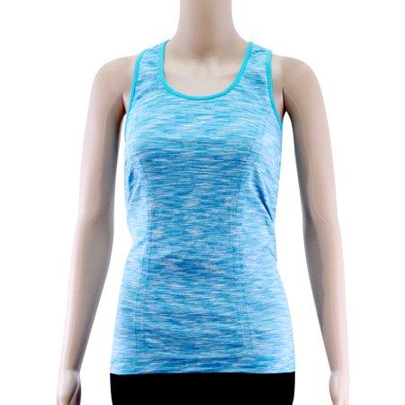 89b502832ad Acappella - Women s Yoga Tank Tops Stretchy Activewear Tops Long Workout  Shirts Racerback Quick Dry Blue - M - Walmart.com