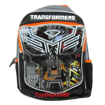 New Arrival Transformers Big Face Bumblebee Kids 16' Large  Backpack