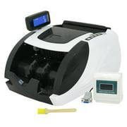ZENY Money Bill Counter Machine Cash Counting Bank Counterfeit Detector Checker UV MG