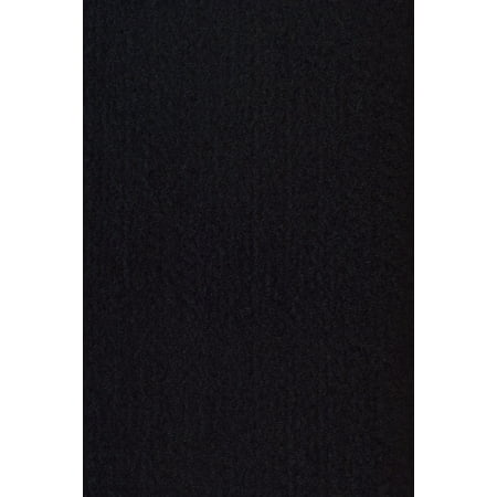 Broadway collection solid color area rugs with Rubber Marine Backing for Patio, Porch, Deck, Boat, Basement or Garage with Premium Bound Polyester Edges Black