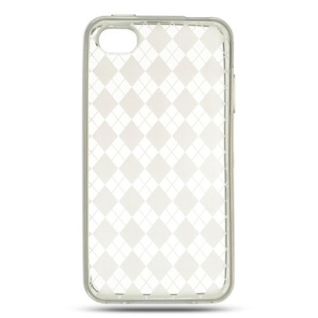 iPhone 4s Case, iPhone 4 Case, by Insten Checker TPU Rubber Candy Skin Case Cover For Apple iPhone 4