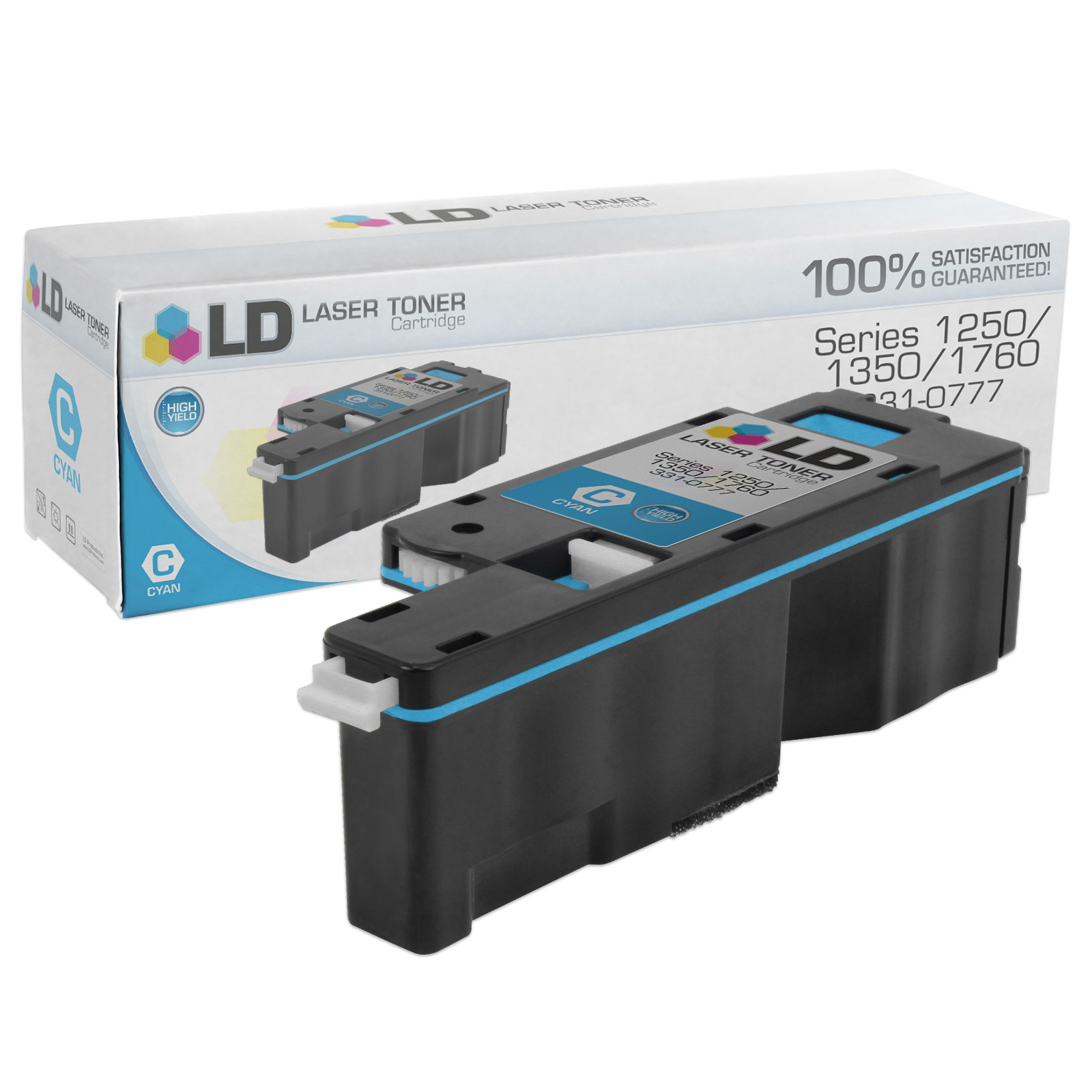 Compatible 1,400 Page Cyan Toner Cartridge (C5GC3) for Dell 1250c / 1350cnw / 1355cnw Laser Printers