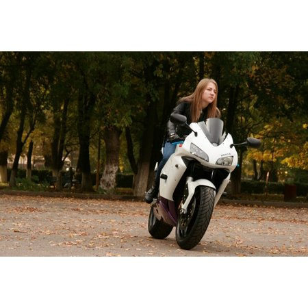 a396fb9e75 LAMINATED POSTER Ride Biker Motorcycle Blonde Leather Jacket Girl Poster  Print 24 x 36 - Walmart.com