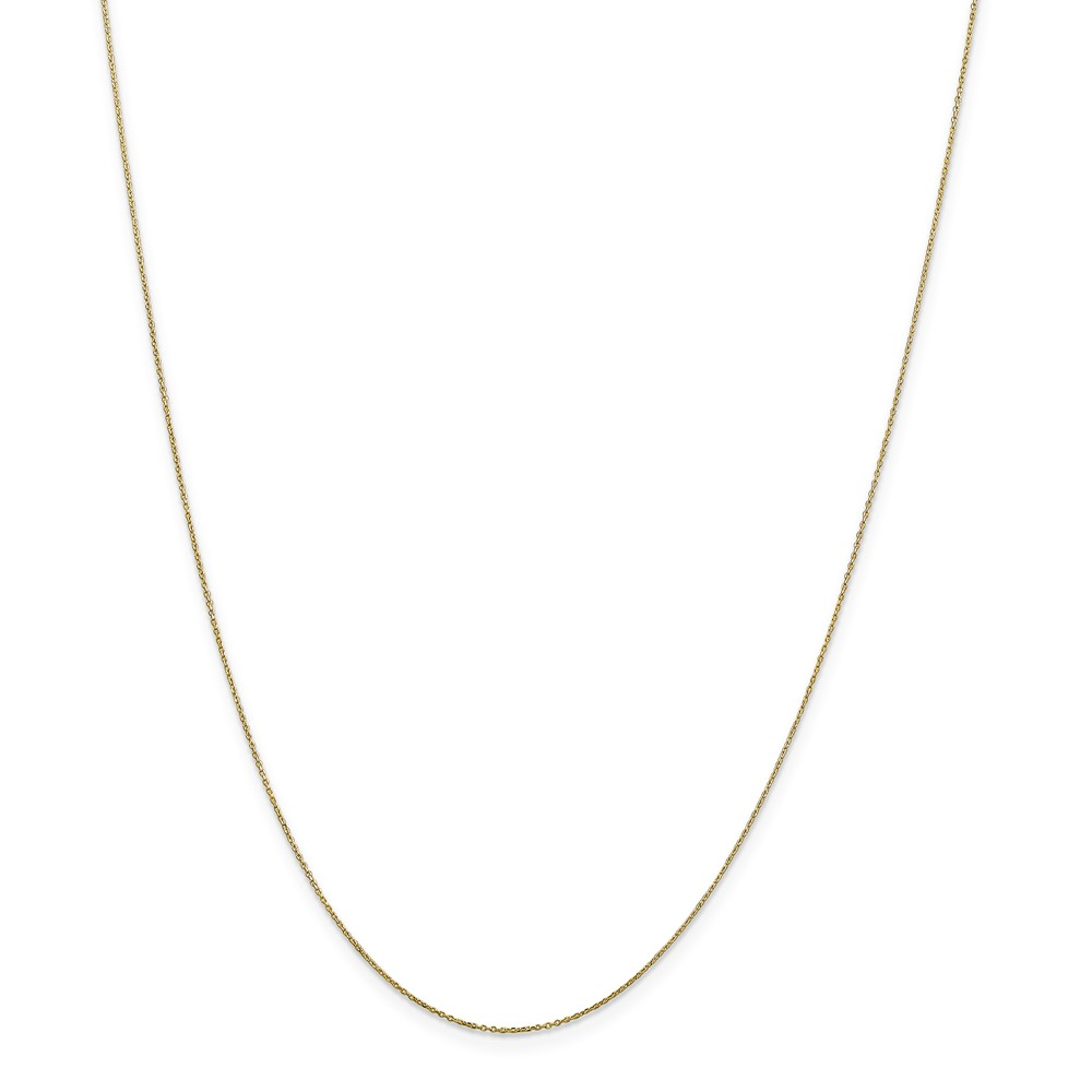 10k Yellow Gold 18in .6mm Solid D/C Cable Necklace Chain