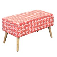 Otto & Ben Easy Lift Top Upholstered Ottoman Storage Bench, Multiple Colors