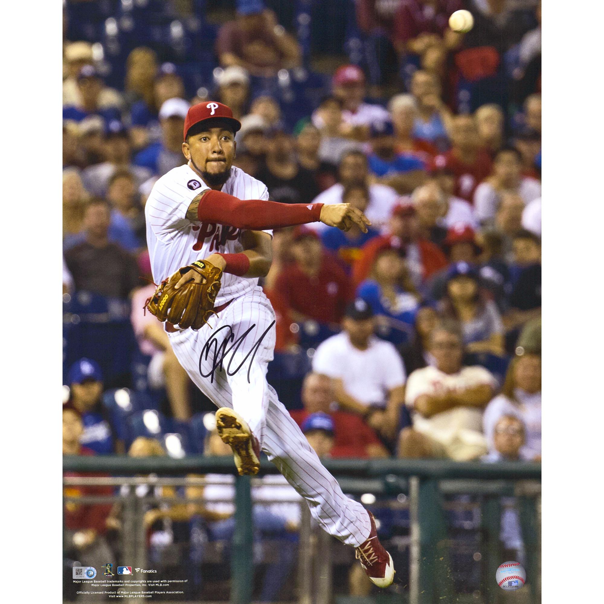 "JP Crawford Philadelphia Phillies Fanatics Authentic Autographed 16"" x 20"" Throwing Ball Photograph - No Size"