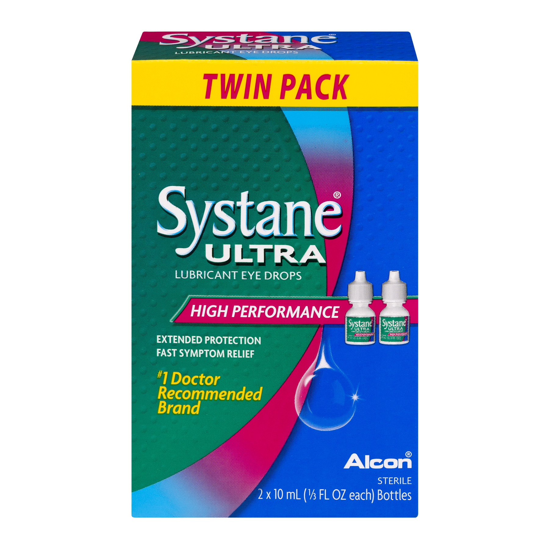 Systane Ultra Lubricant Eye Drops High Performance - 2 PK, 0.33 FL OZ - Walmart.com | Tuggl
