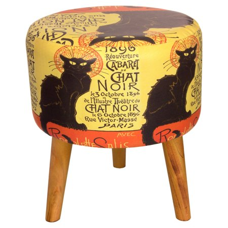 Oriental Furniture Chat Noir Stool