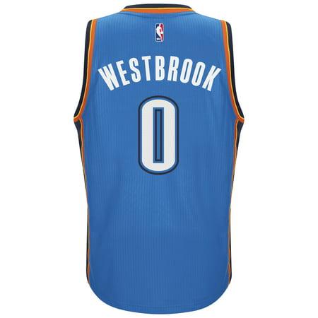 Russell Westbrook Oklahoma City Thunder Adidas Road Swingman Jersey (Blue) by