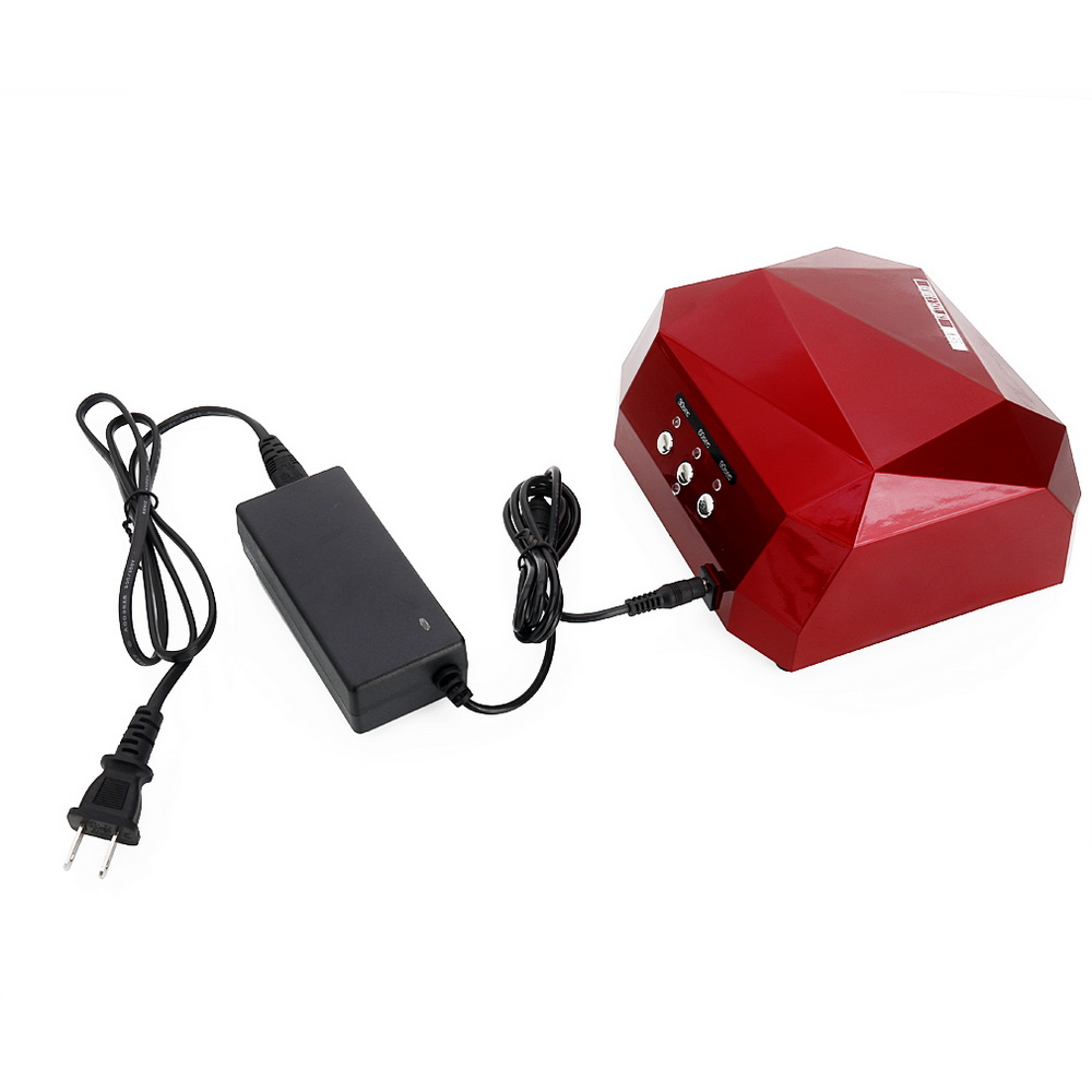 Zimtown 36W LED CCFL Nail Dryer Diamond Shape Curing Lamp Machine For UV Gel Nail Polish Red - image 3 of 7