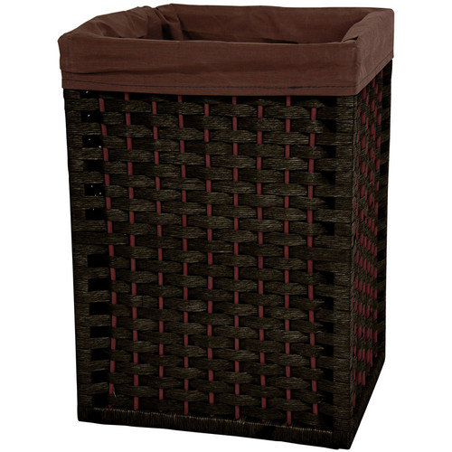 Oriental Furniture 17'' Natural Fiber Basket in Black