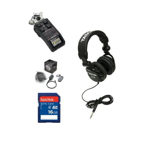 Zoom H6 Digital Audio Recorder + Accessory Bundle + 16GB SD Card  +