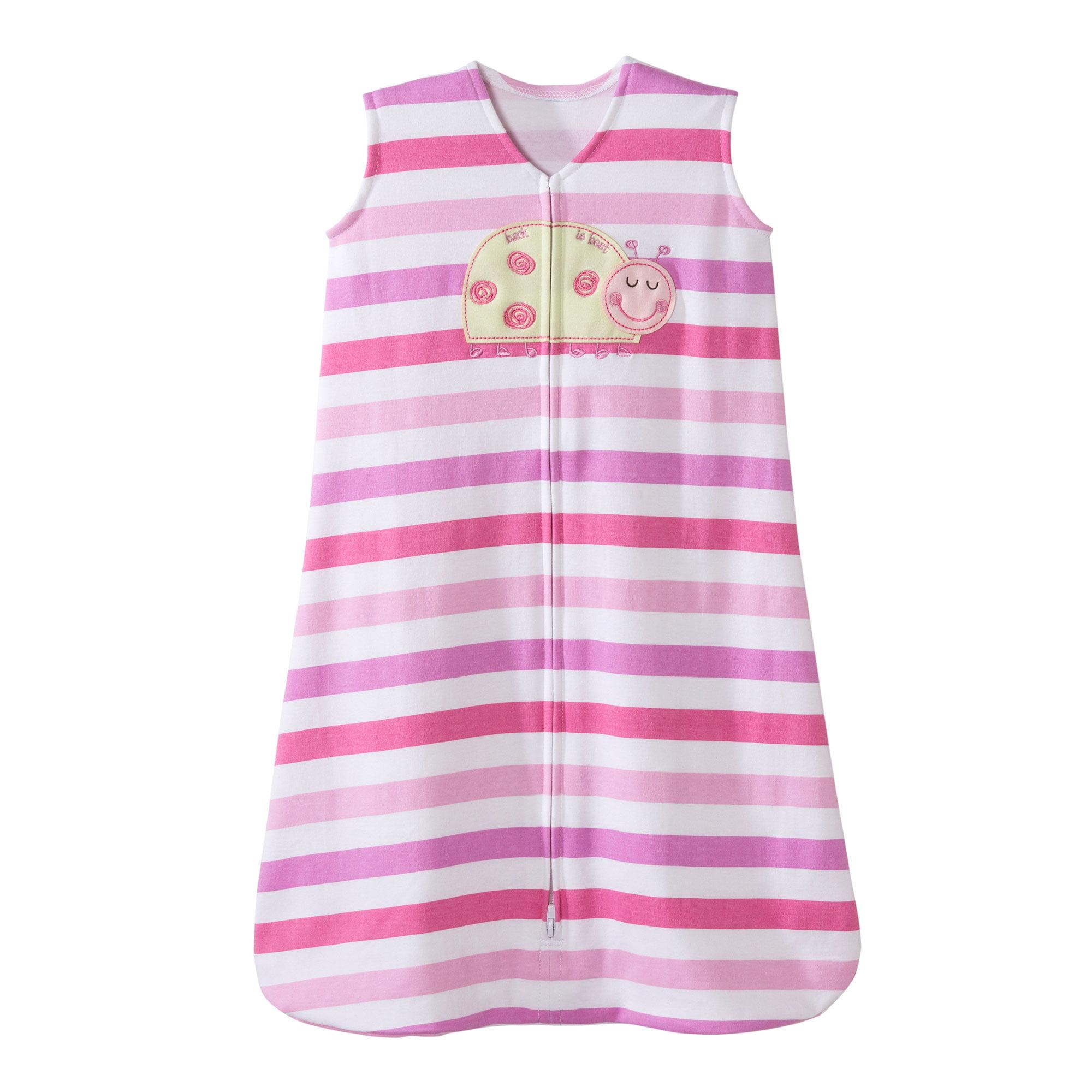 Halo Ladybug Pink Stripe Sleepsack Wearable Baby Blanket, Extra-Large