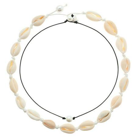 Heavy Set Necklace - Fancyleo Shell Choker Necklace Women Seashell Pearls Choker Necklace Cord Necklace Set