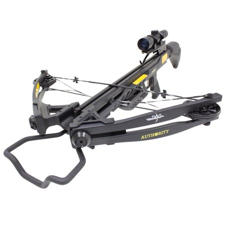 SAS Authoirity 175lbs Compound Crossbow Package - Black](Costume Crossbow)