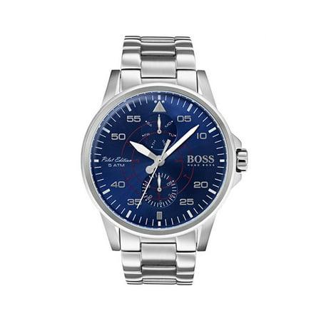 Hugo Boss 1513519 Silver 44mm Stainless Steel Aviator Men's Watch ()