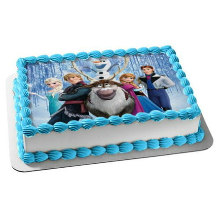 Pleasant Disney Frozen Anna Elsa Olaf Sven Kristoff Waterfall Background Funny Birthday Cards Online Elaedamsfinfo