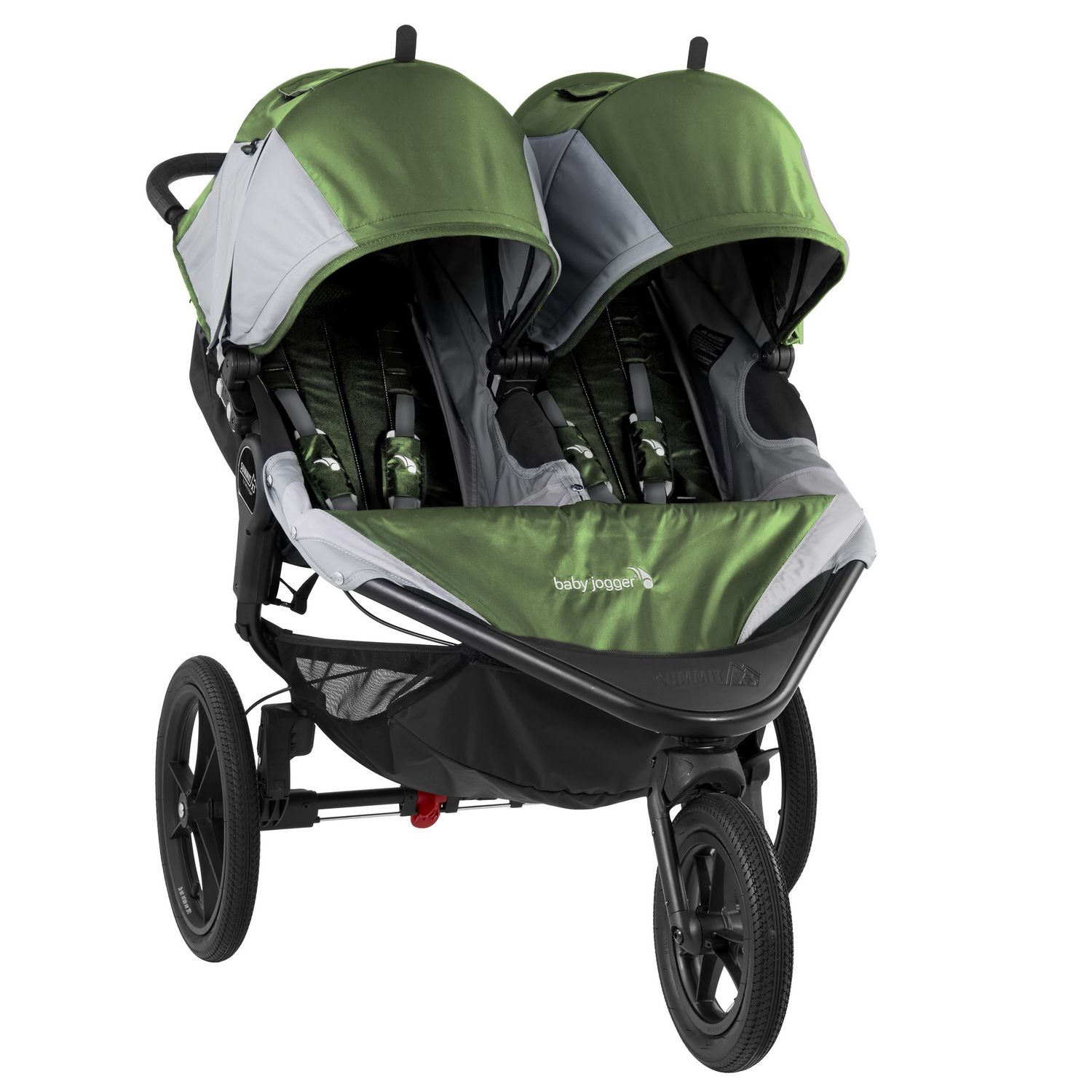 Baby Jogger Summit X3 Double Jogging Stroller - Green / Gray