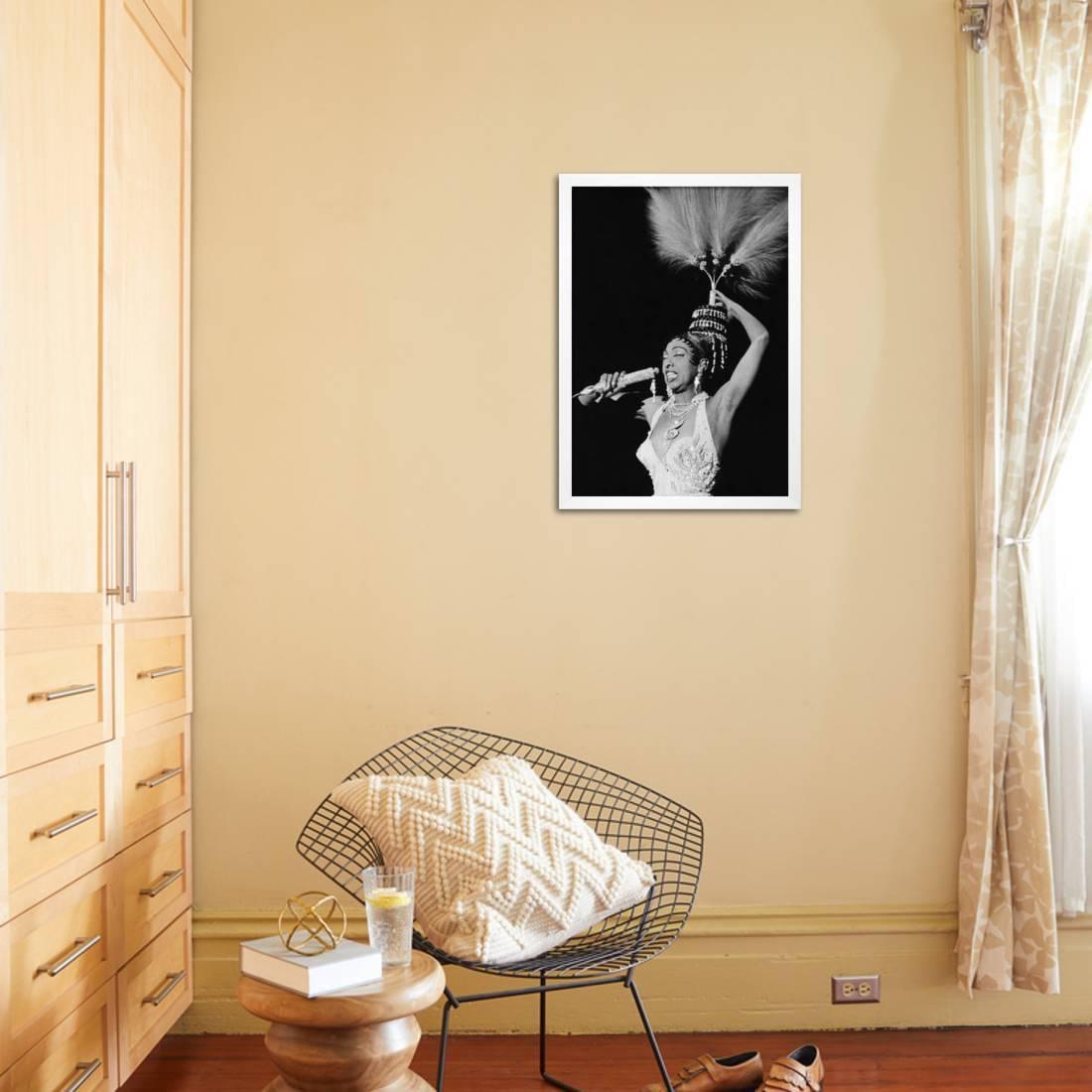 Josephine Baker - 1960 Framed Print Wall Art By Isaac Sutton ...