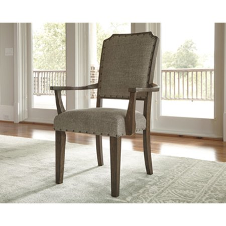 Ashley Larrenton Oatmeal Dining Room Arm Chair