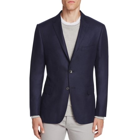 Hickey Freeman Navy - Hickey Freeman Men's Perry Cashmere Twill Slim Fit Sportcoat 40 Short 40S Navy