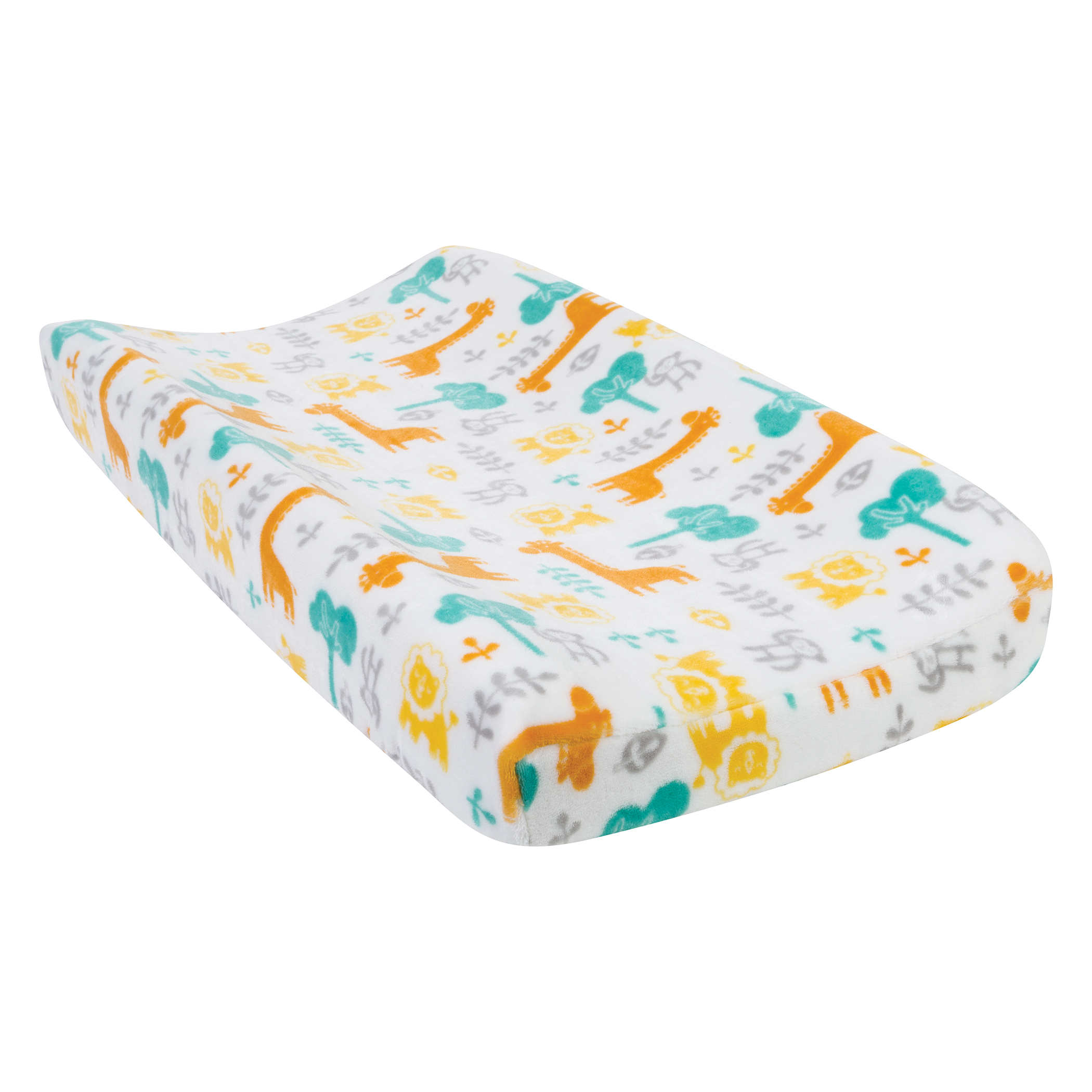 Lullaby Jungle Plush Changing Pad Cover