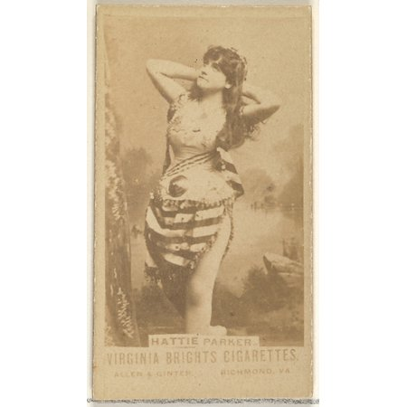 Hattie Parker from the Actors and Actresses series (N45 Type 1) for Virginia Brights Cigarettes Poster Print (18 x 24)