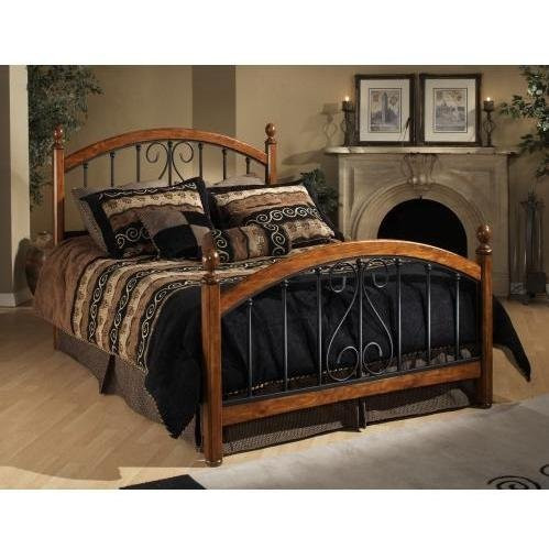 Hillsdale Furniture 1258BFR Burton Way Bed Set with Rails Full Cherry by