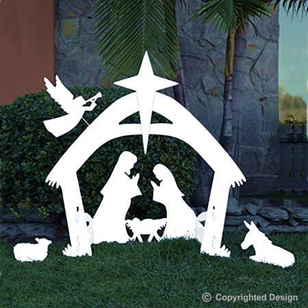 EasyGo Large Outdoor Nativity Scene - Large Christmas Yard Decoration Set - High Quality and Reusable For Many Years - Child Nativity Set