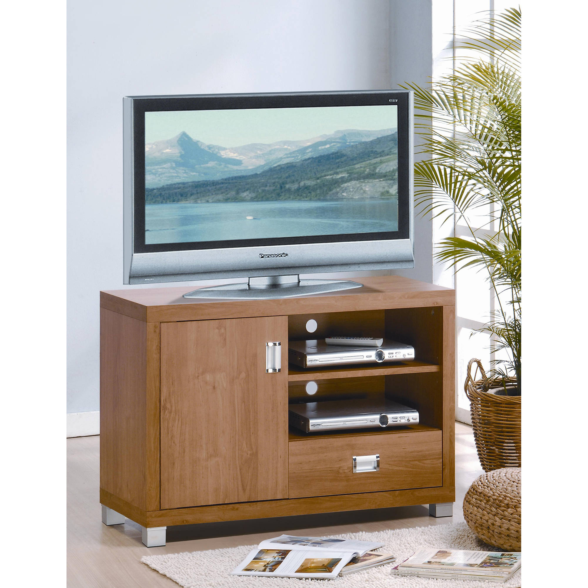 """Techni Mobili TV Stand for TVs Up To 38"""" with Storage, Maple (RTA-8830-MPL)"""