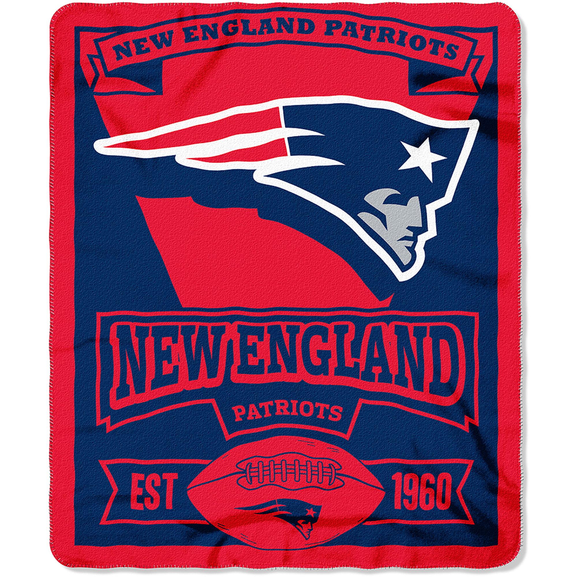 "NFL New England Patriots 50"" x 60"" Fleece Throw"