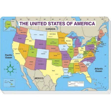 Carson Dellosa Us Map Jumbo Pad Labeled