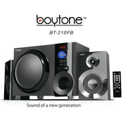 BOYTONE BT210FD BLACK 2.1 MULTIMEDIA SPEAKER SYSTEM WITH