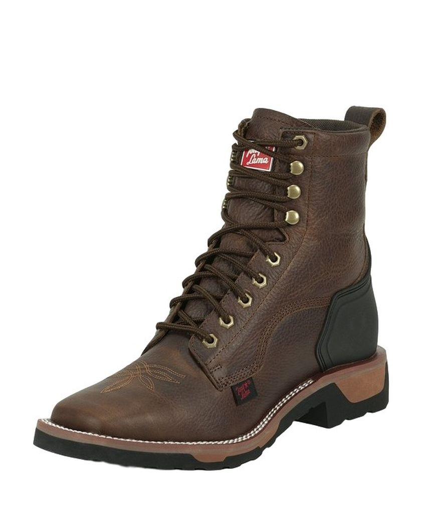 Tony Lama Work Boots Mens Carthage Leather Square Lace Bark TW2017 by Tony Lama Boots