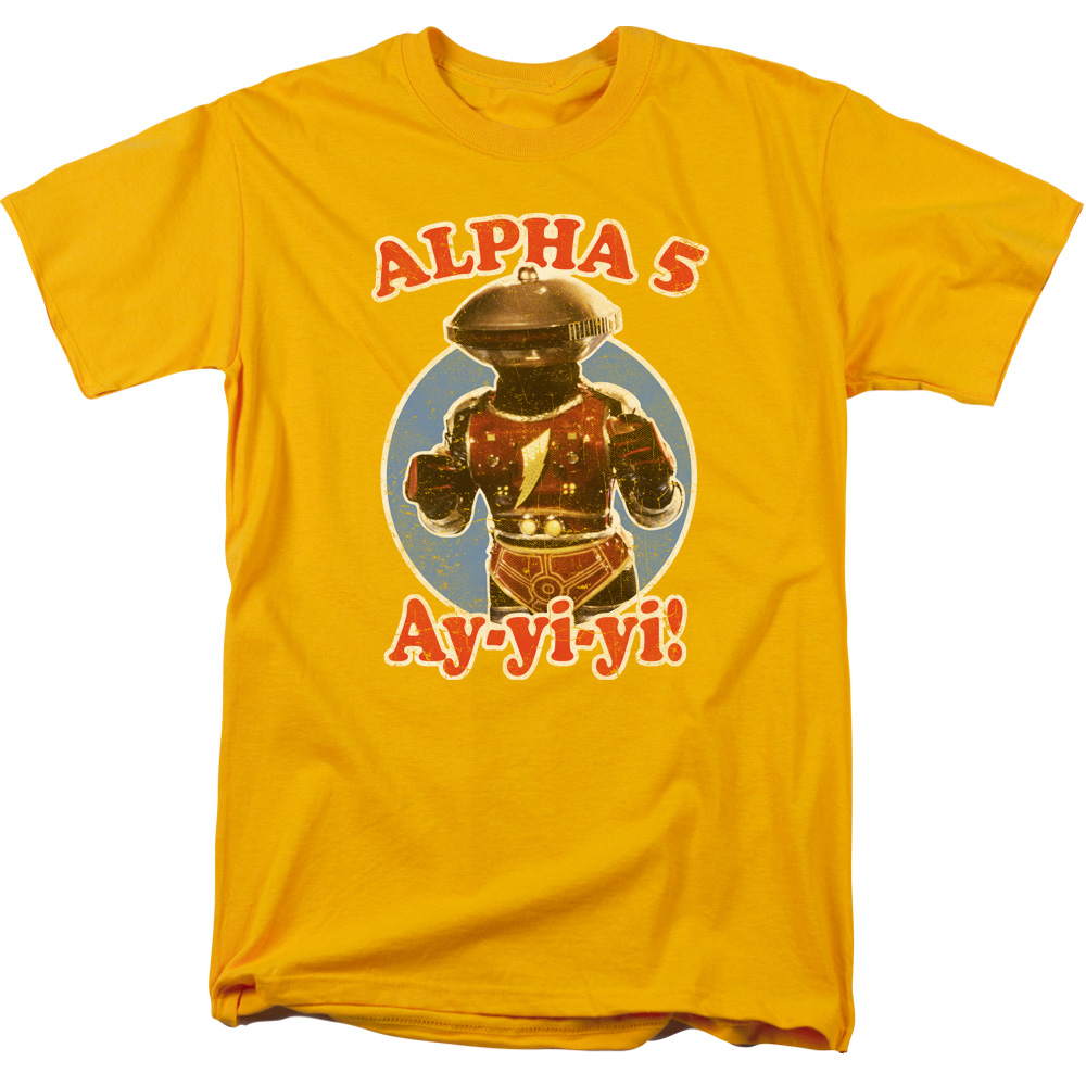 POWER RANGERS/ALPHA 5-S/S ADULT 18/1-GOLD-3X