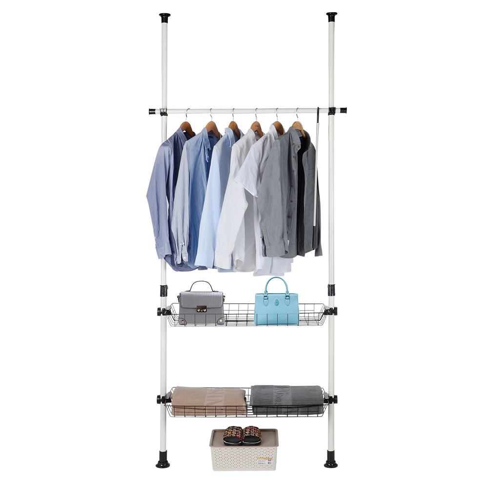Portable Indoor Wardrobe Garment Rack Diy Clothes Rail Stand