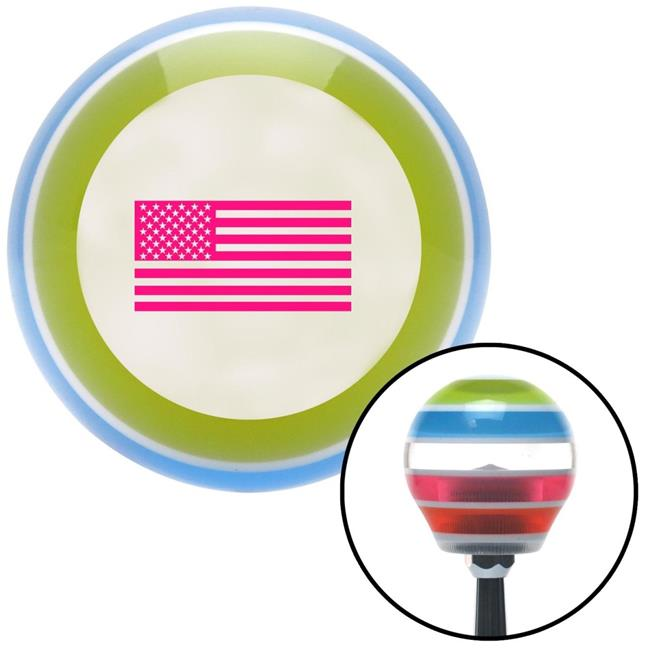 Pink Wings Conjoined in Lure American Shifter 123511 Green Stripe Shift Knob with M16 x 1.5 Insert