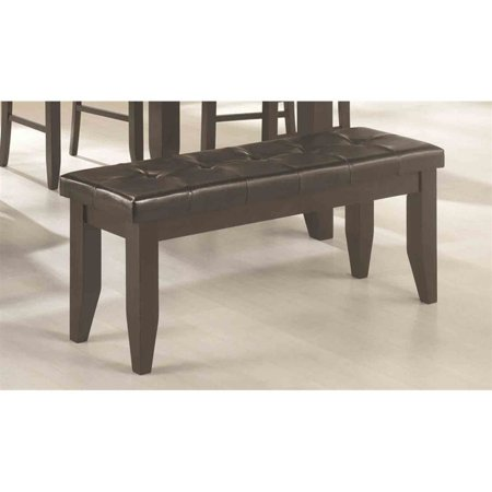 Bowery Hill Contemporary Tufted Dining Bench in Black - image 1 of 1