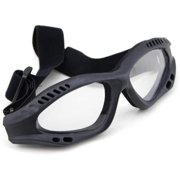 Eye Protective Clear Goggles Glasses High Quality Tan Tactical - Black