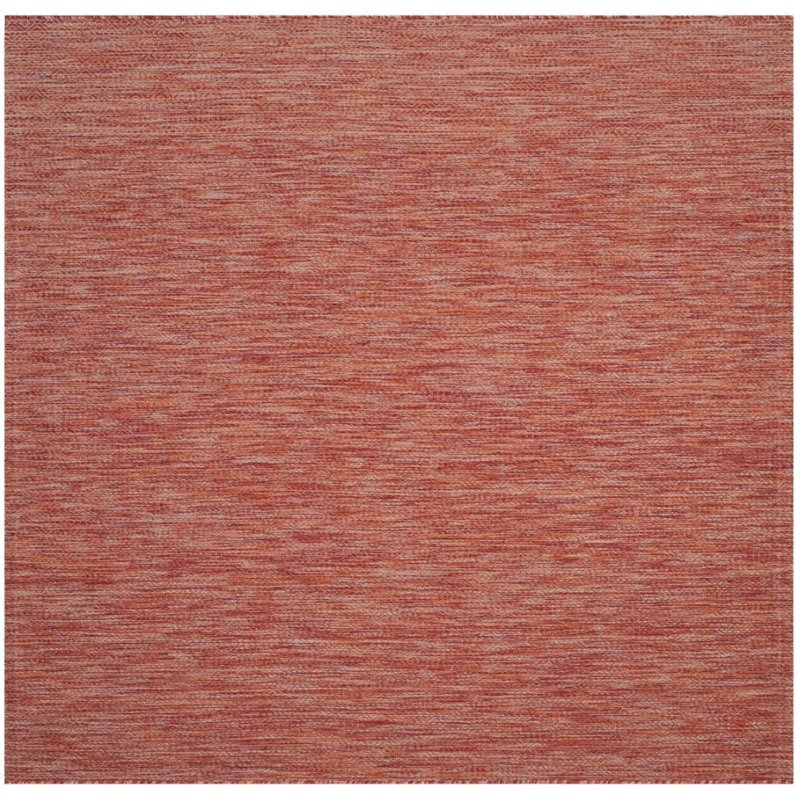 Safavieh Courtyard 8' X 11' Power Loomed Rug in Red and Red - image 4 de 6