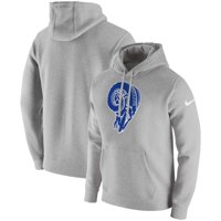 f9085e79 Product Image Los Angeles Rams Nike Fan Gear Club Throwback Pullover Hoodie  - Heather Gray