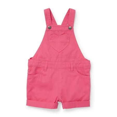 - Pink Solid Denim Shortalls (Baby Girls & Toddler Girls)