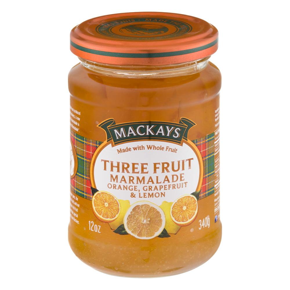 Mackays Three Fruit Marmalade Orange, Grapefruit & Lemon, 12.0 OZ by Mackays