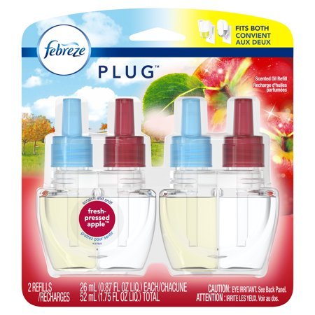 Febreze Plug Air Freshener, Scented Oil Refill, Fresh ...