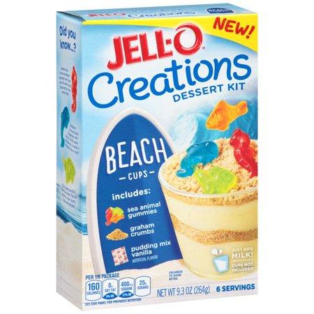 Jell O Creations Dessert Kit Beach Cups  9 3 Oz