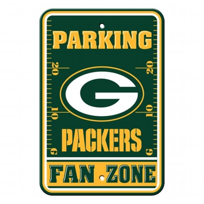 Fremont Die  92216 Plastic Parking Sign- Green Bay Packers
