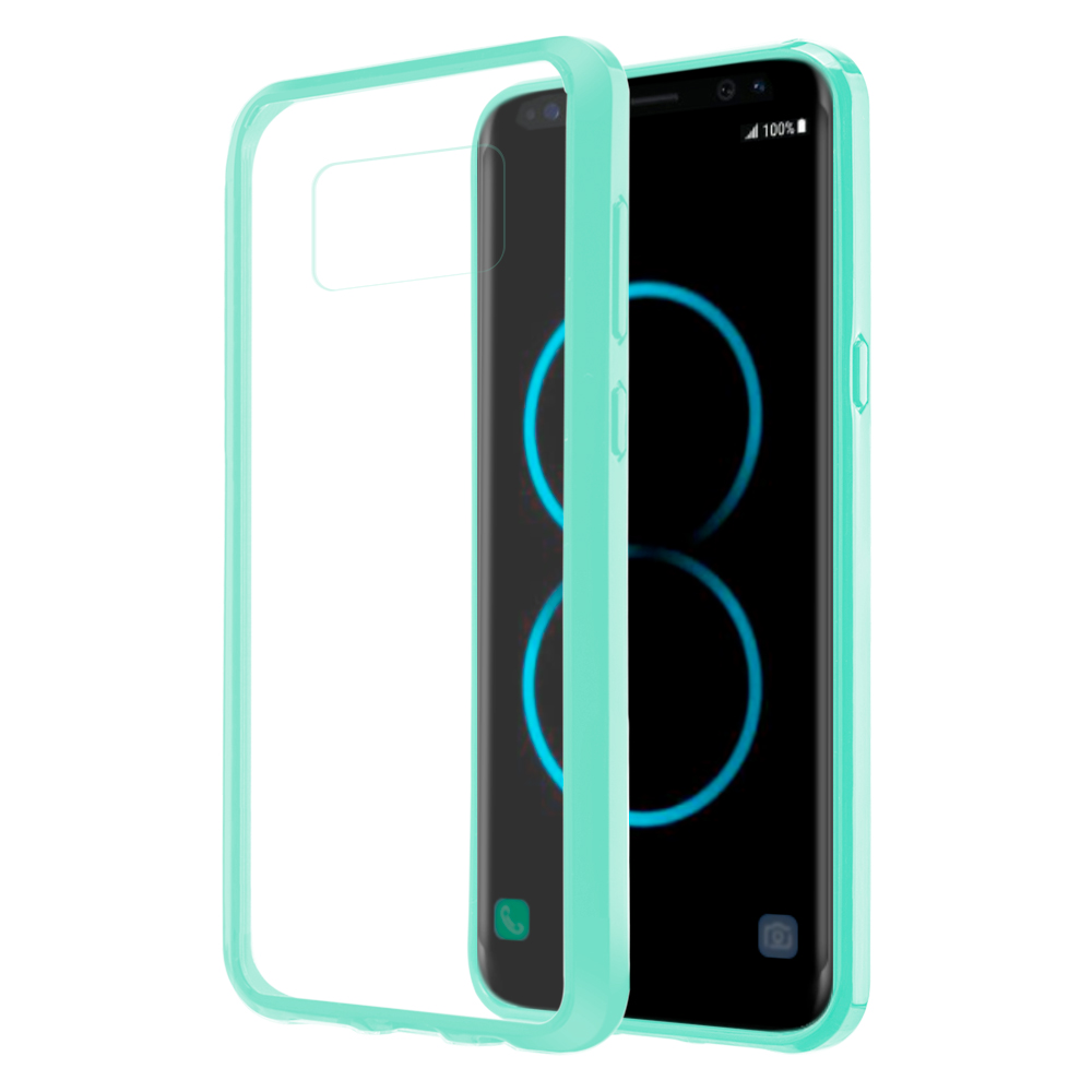 MUNDAZE Teal Mint Candy Acrylic Clear Case For Samsung Galaxy S8 Phone