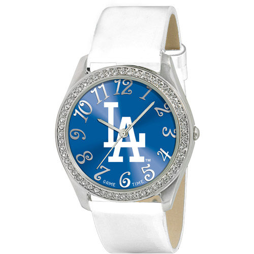 Game Time MLB Women's Los Angeles Dodgers Glitz Watch, Silver