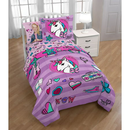 Nickelodeon JoJo Siwa Twin & Full Comforter and Sham Set, Kid's Bedding, 2 Piece (Lambskin Comforter)